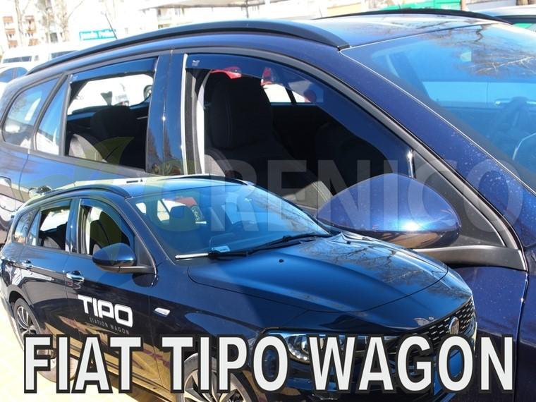 FIAT TIPO II 5-portes break 2016-présent Deflecteurs de vent 4-pcs HEKO Bulles
